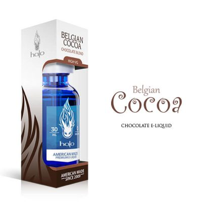 A high VG chocolate flavoured e-liquid from the Halo range.