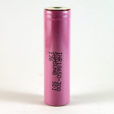 The Samsung 30Q 18650 button top 3000mAh battery.