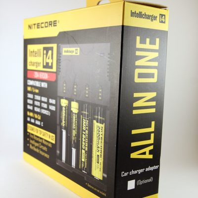 A universal four channel battery charger made by Nitecore.